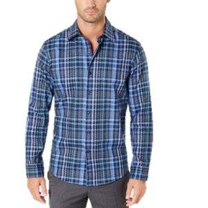 Tasso Elba Cabila Dobby Navy Shirt XXL